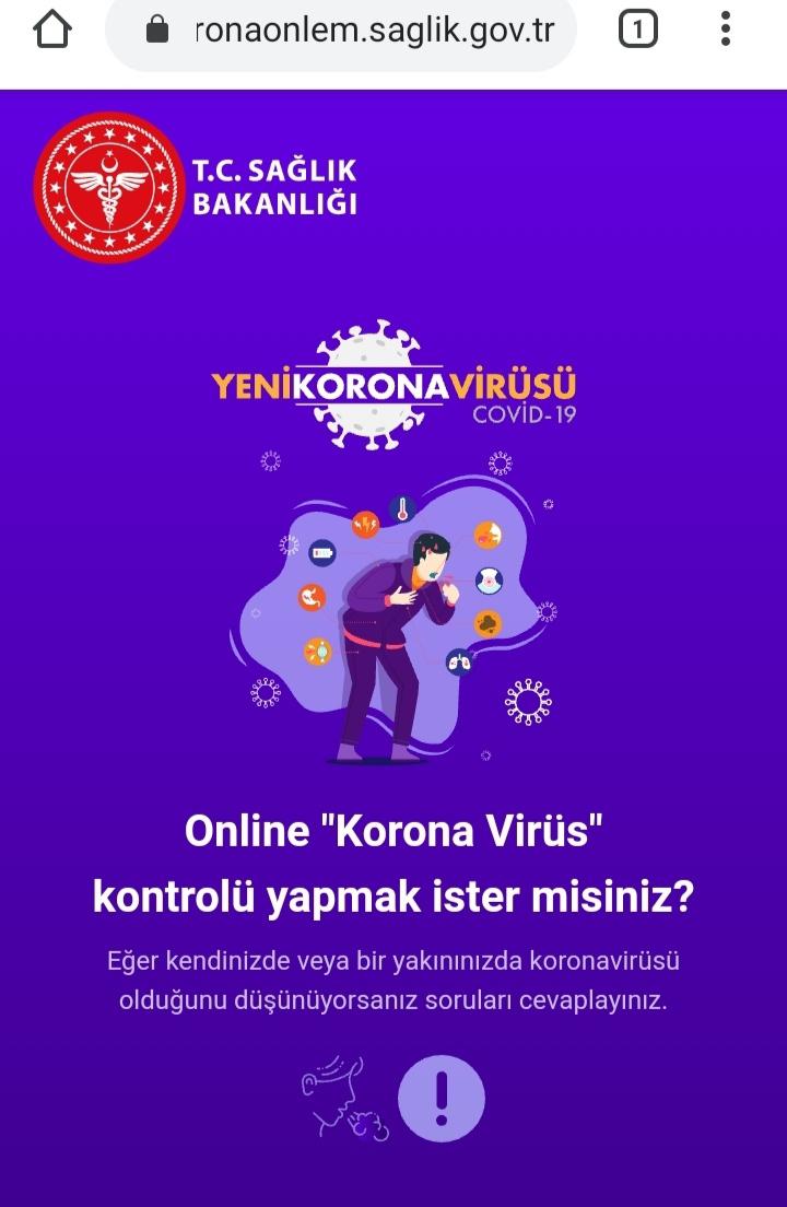 Online korona Corona virüs testi