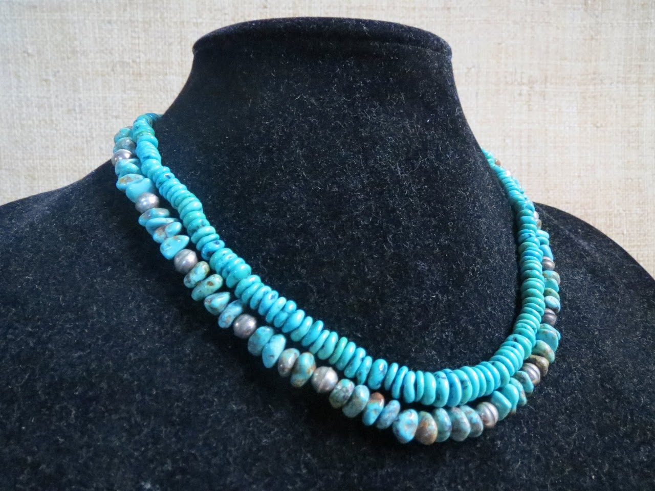 Turquoise Necklace Pair