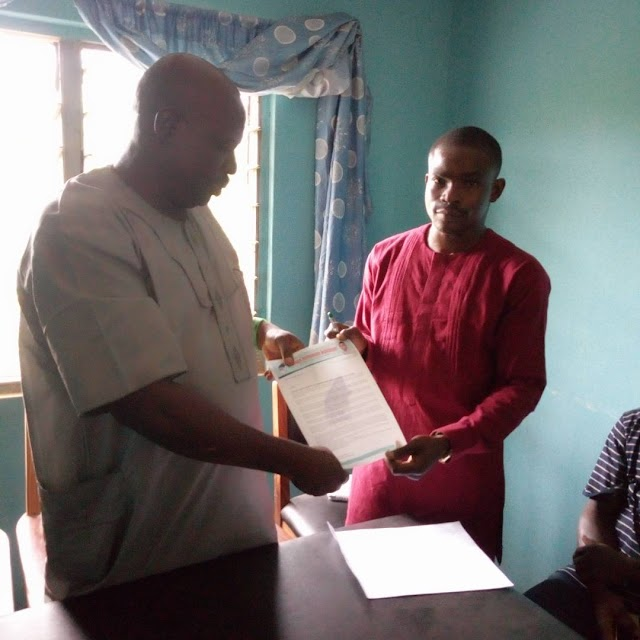 Mopamuro 2019: I am the best candidate to defeat other parties — Abel declares as he presents intent letter.