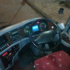 Het dashboard van de VDL Futura Classic van Eurolines (GB)