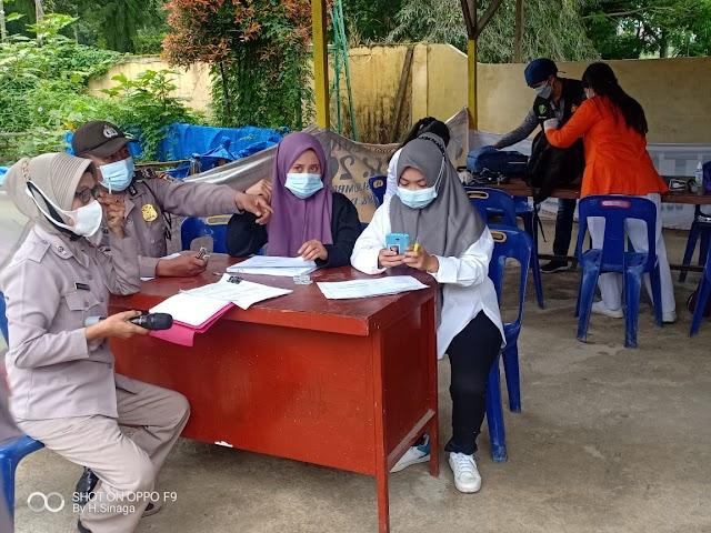 1220 Warga Kec.Pam Sidamanik & Kec.Sidamanik Dapatkan Vaksinasi Yang di Fasilitasi polres Simalungun