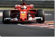 Sebastian Vettel con la Ferrari nei test di Budapest 2017