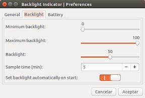 Como ajustar el brillo y aumentar la batería en Ubuntu - configuración 2