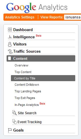 Content Google Analytics
