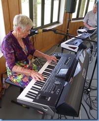 Jeanette Harding playing her Korg Pa3X. Jeanette makes good use of the 'TC-Helicon' vocal harmonizer on-board to accompany her great music. Jeanette came all the way from New Plymouth to be with us for the day!