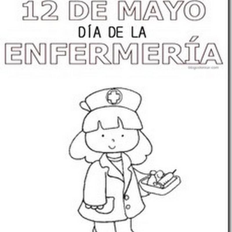 12 de mayo día de la enfermería para colorear