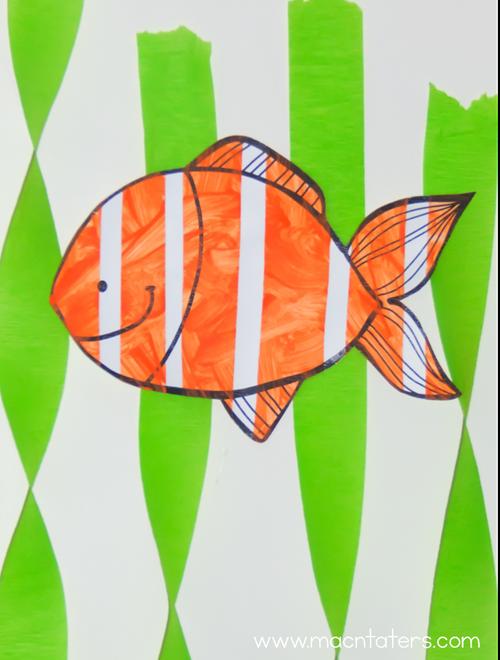 Tape Resist Clownfish