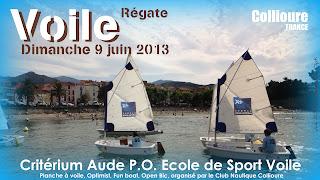 Voile optimist régate Critérium Ecole_de_sport_voile enfant_7_ans Collioure 66