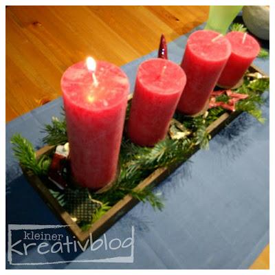 kleiner-kreativblog: Adventsgesteck