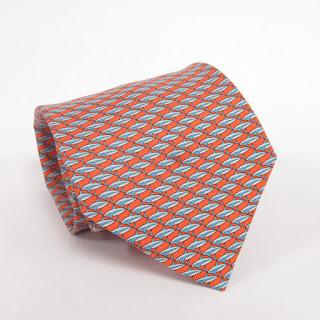Hermès  Silk Shark Tie