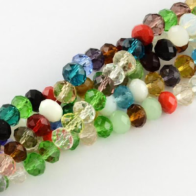 Faceted Glass Abacus Beads from PandaHall.com