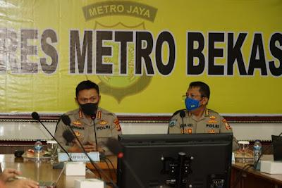 Rumuskan Strategi Menghadapi Pandemic Covid – 19, Polres Metro Bekasi Mendapat Kunjungan Dari Tim Puslitbang Mabes Polri