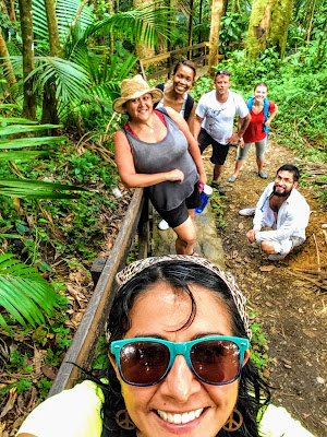 Hiking the jungle trails, selfie break