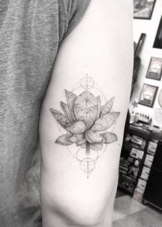 Este incrível flor de lótus