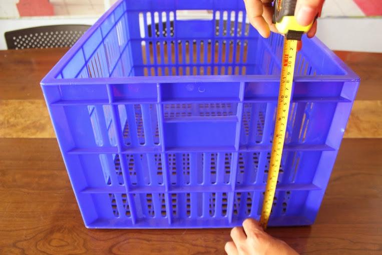 JUAL KERANJANG KONTAINER PLASTIK LOBANG TIPE 2231 L | Green Leaf | www.rumahrak.com | RAJA RAK INDONESIA | JAKARTA