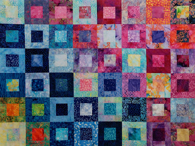 Batik scrap quilt by Jeanne Selep Imaging