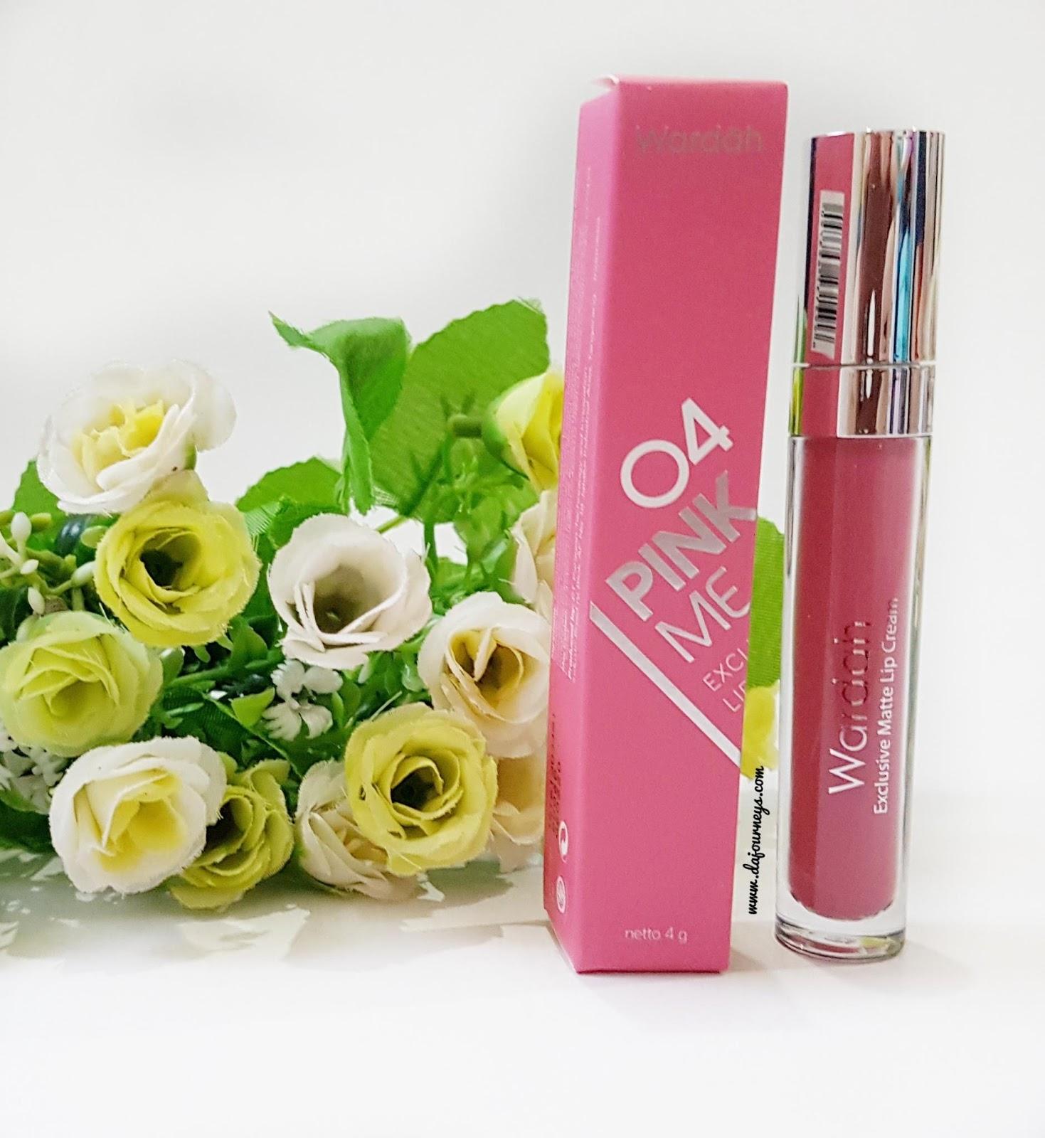 Review Wardah Exclusive Matte Lip Cream 04 Pink Me Lipstick Pada Sisi Box Ada Keterangan Ingredients Logo Halal Mui Nomor Produksi Barcode Nama Shade Juga