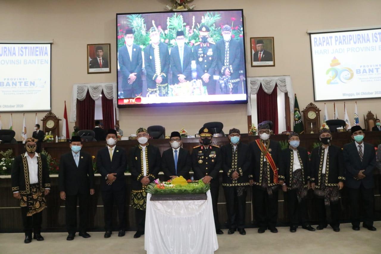 Kapolda Banten Hadiri Rapat Paripurna Istimewa DPRD Provinsi Banten