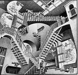 M C Escher's Relativity
