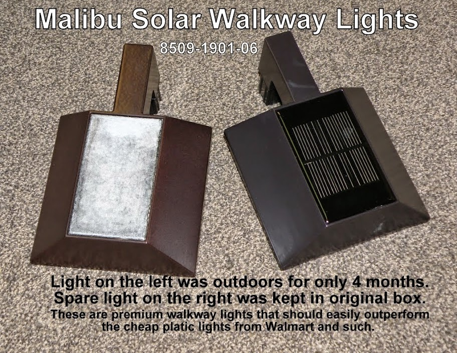 Are the solar cells on your pathlights going cloudy solar panels if it werent for the high cost of these lights and the very early failures that occurred i would have drop kicked them all to the curb malibubrinkmann aloadofball Images