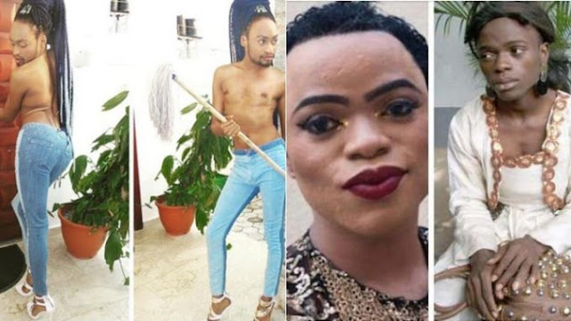 """Sit Down And Learn From The New Boss"" — Bobrisky Fires bayck At Denrele (Photos)"