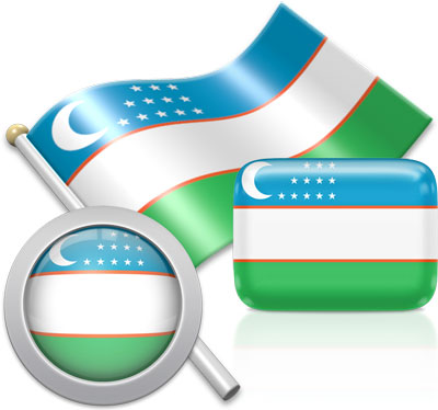 Uzbekistani flag icons pictures collection