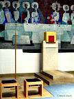 Strullendorf, Altarraumumgestaltung, Tabernakel, Vortragekreuz und Sedilien  2008/09