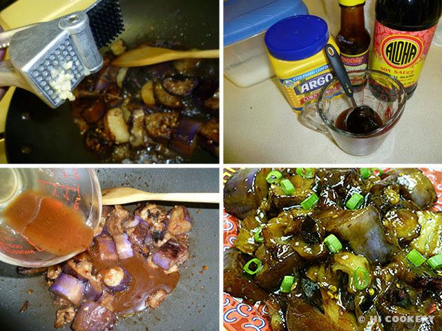 Spicy Garlic Eggplant