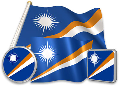Marshallese flag animated gif collection