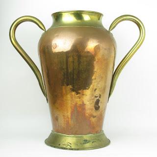 Large Brass & Copper Vase