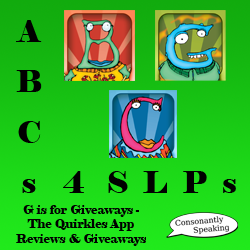 ABCs 4 SLPs: G is for Giveaways - The Quirkles Application Reviews and Giveaways image