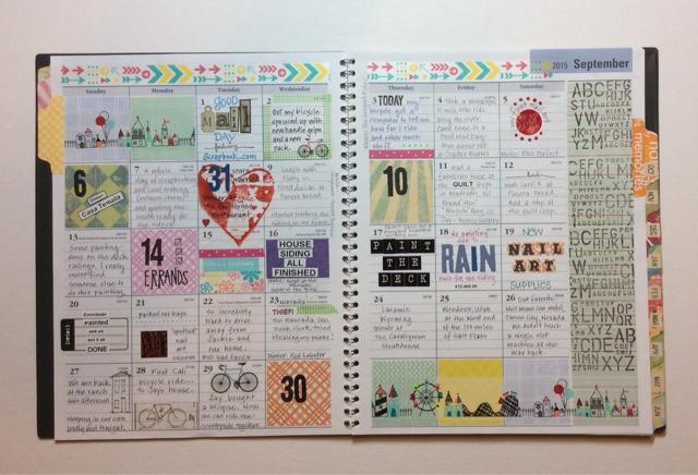 Calendar Journal Ideas : Freezeframe september calendar journal