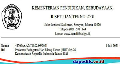 Hari Ulang Tahun (HUT) ke-76 Kemerdekaan Republik Indonesia Tahun 2021