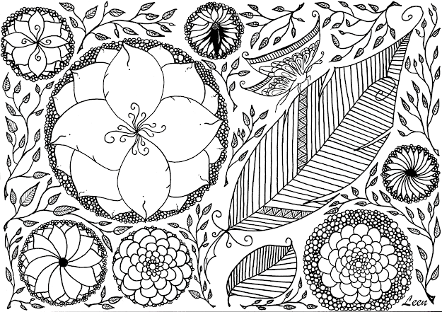 Spring Related Coloring Pages Free Image