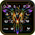 Colorful Phoenix Wallpaper for Emoji Keyboard icon