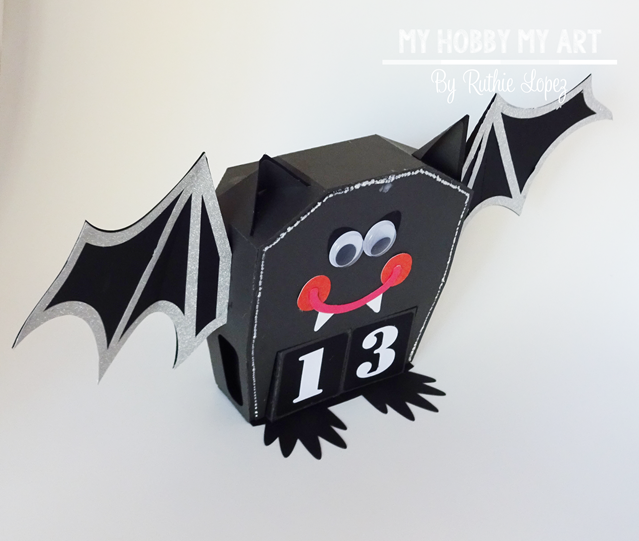 Halloween calendar, Bat, SnapDragon Snippets - Ruthie Lopez - My Hobby My Art 4