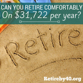Can you retire comfortably on $32,000 per year?