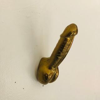 Brass Phallus Hook
