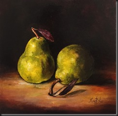 Two Green Pears 12x12