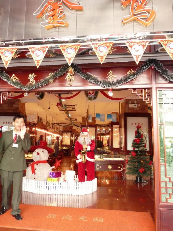 Xiamen.Pas de photos du Père Noël...