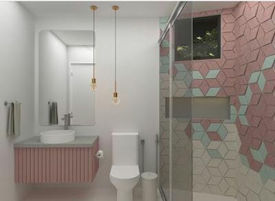 Dekorasi kamar mandi cantik mungil