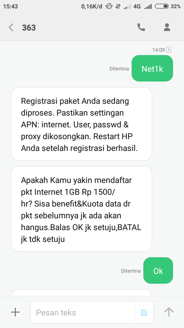 Cara Beli Paket Yellow IM3 Kuota 1GB Rp 1000 dan Rp 1500