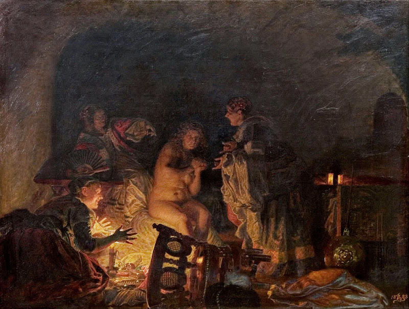 Kristian Zahrtmann - Leonora Christina stripped and seached by the servants of Queen Sofie Amalie - Google Art Project