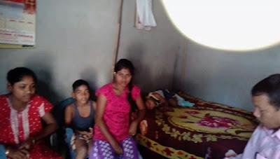 Home visit to Haldha, Kamrup
