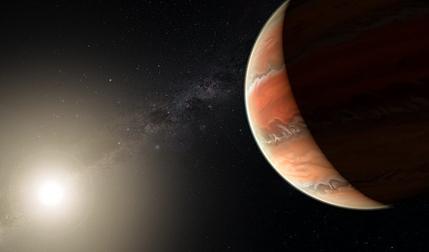 ilustração do exoplaneta WASP-19b