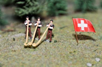 ... selbst Alphornbläser waren in der Modell-Landschaft zu finden.