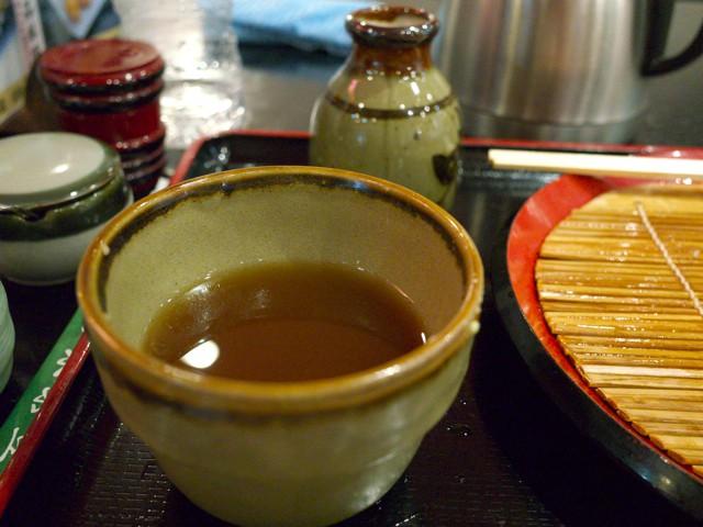 蕎麦湯で割った蕎麦つゆ