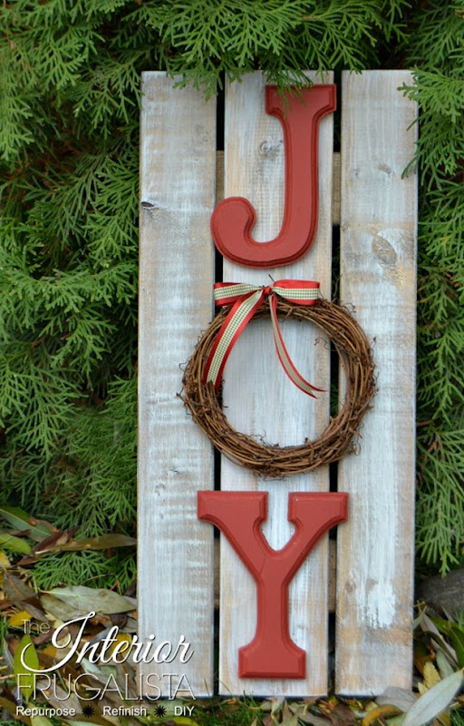 Handmade Christmas JOY Sign 600
