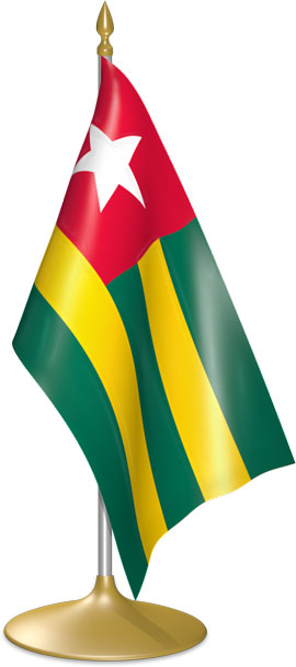 Togolese table flags - desk flags