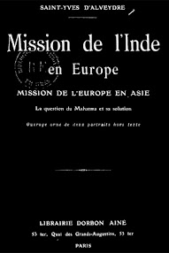 Cover of Saint Yves D'Alveydre's Book Mission de L'Indie en Europe, Mission de l'Europe en Asie (1886,in French)